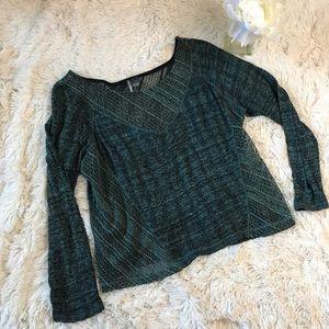 Sparkle & Fade Sweaters - SALE Sparkle & Fade Green Sweater Size M 123